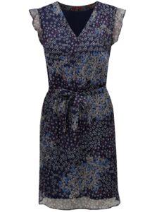 Tmavomodré kvetované šaty s.Oliver