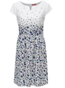 Modro-biele kvetované šaty s.Oliver