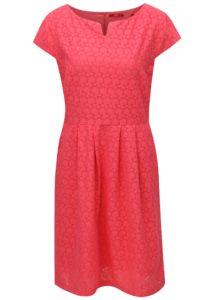 Ružové šaty s vyšívaným vzorom s.Oliver