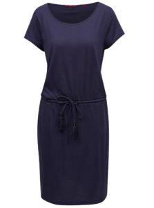 Tmavomodré šaty so zaväzovaním s.Oliver
