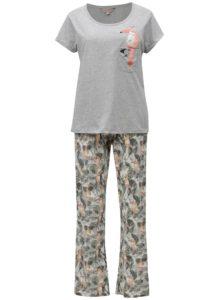 Sivé pyžamo s motívom tukana Dorothy Perkins