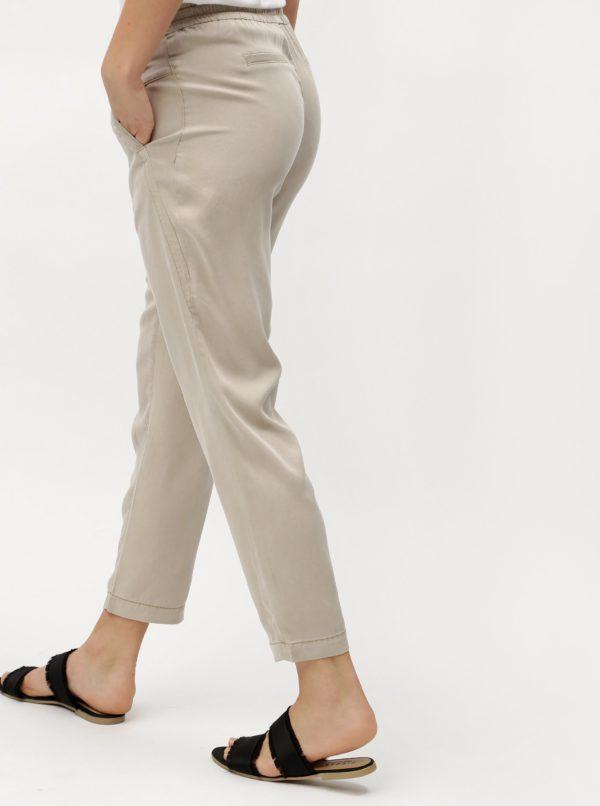 Béžové dámske voľné nohavice s.Oliver