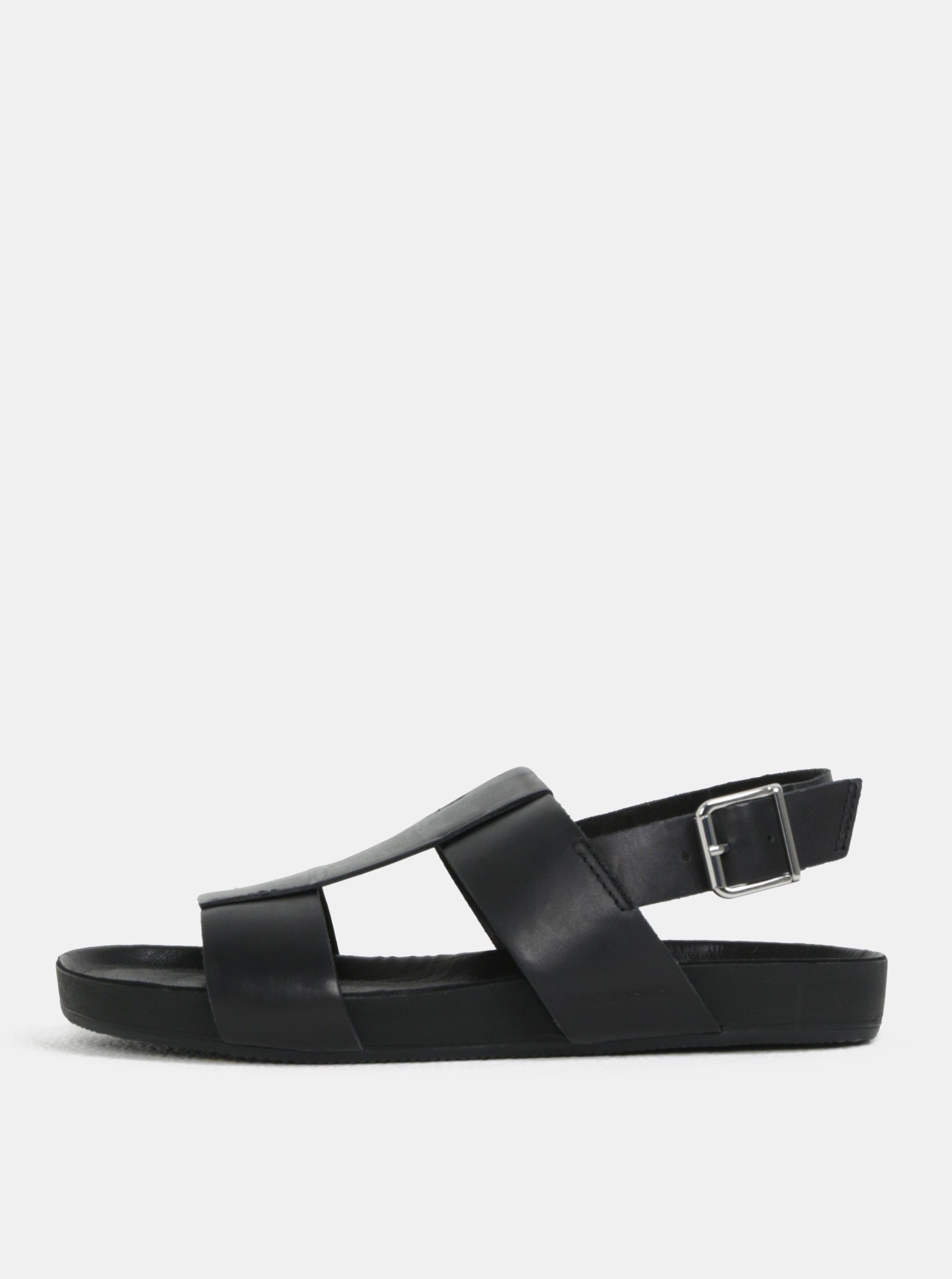 39dcae898481 Čierne pánske kožené sandále Vagabond Funk