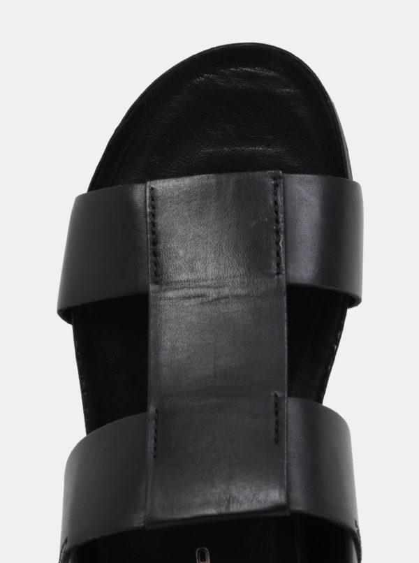 Čierne pánske kožené sandále Vagabond Funk