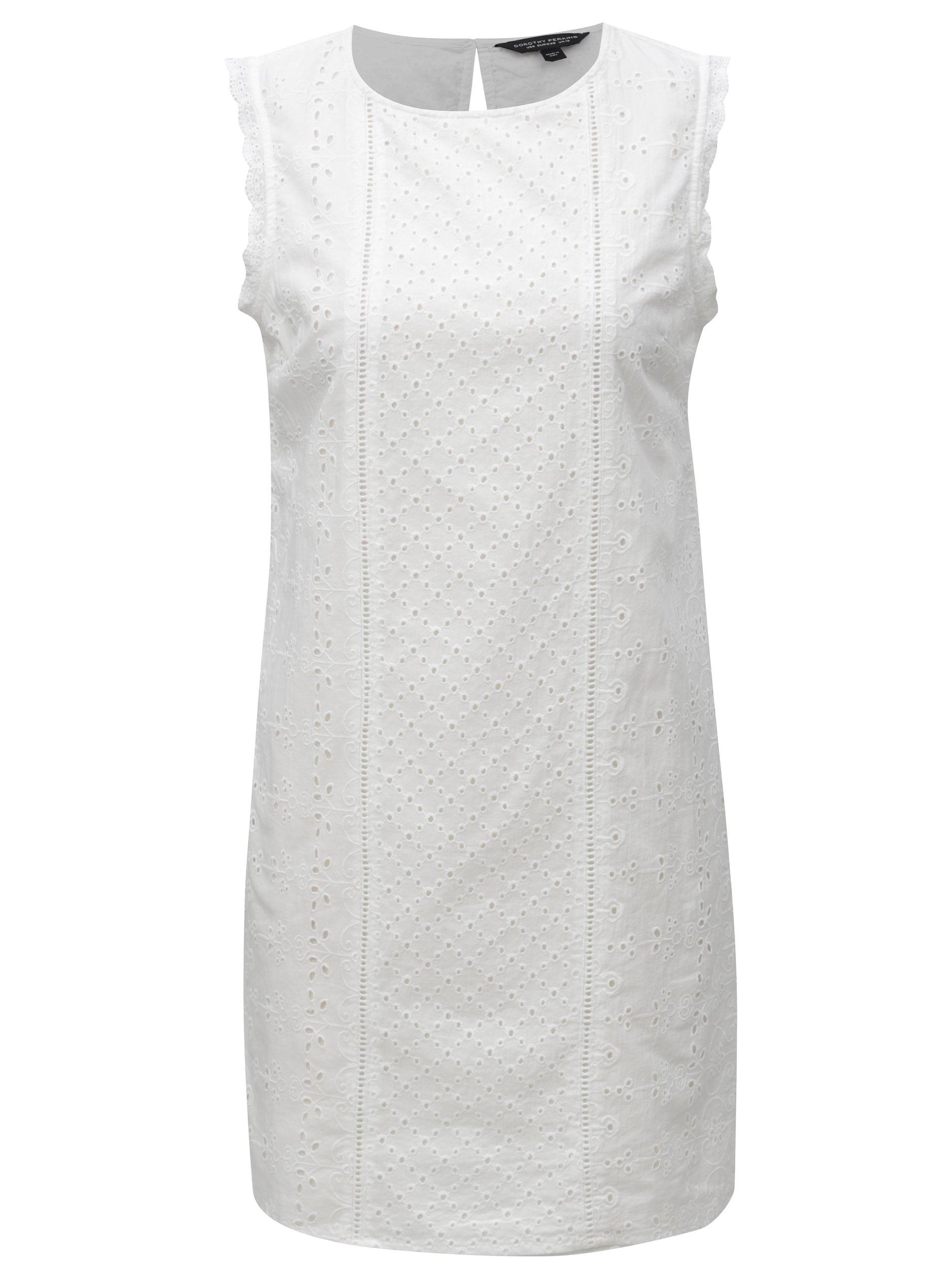 9522e538fda3 Biele čipkované šaty Dorothy Perkins