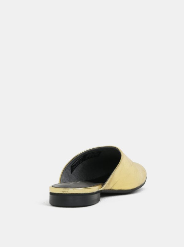 Dámske kožené šľapky v zlatej farbe Vagabond Dolores
