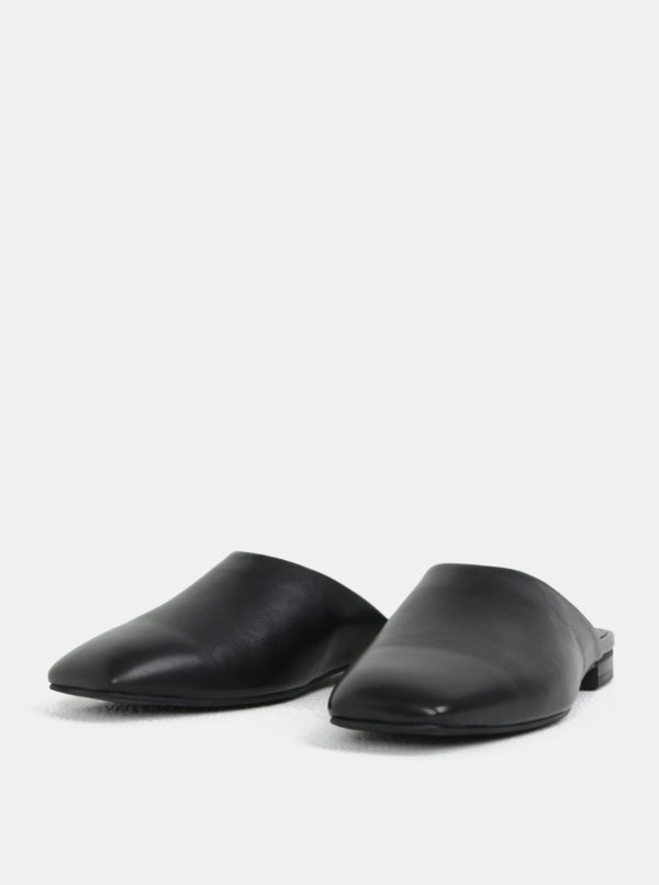 Čierne dámske kožené šľapky Vagabond Dolores