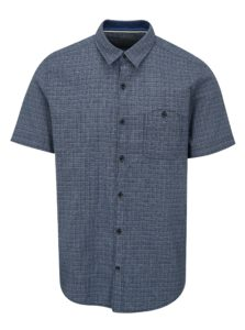 Modrá pánska kockovaná slim fit košeľa s.Oliver