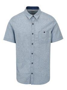 Svetlomodrá pánska kockovaná slim fit košeľa s.Oliver