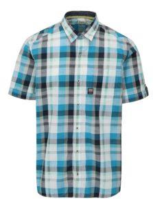 Bielo-modrá kockovaná pánska regular fit košeľa s.Oliver