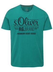Zelené pánske tričko s potlačou s.Oliver