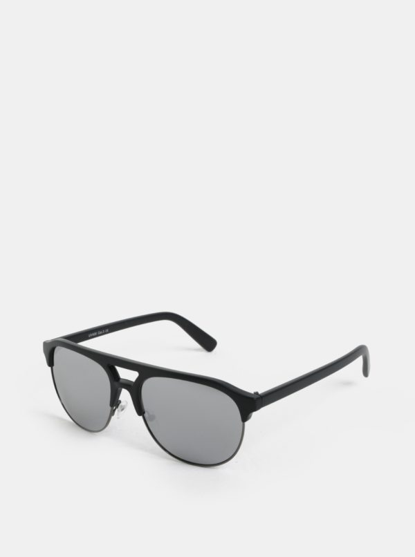 Čierne slnečné okuliare so zrkadlovými sklami ONLY & SONS Display