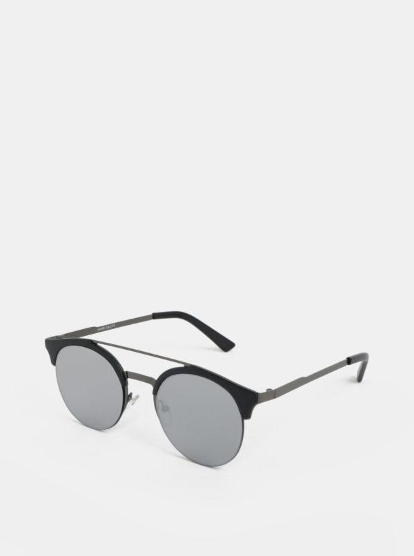 Čierne okrúhle slnečné okuliare ONLY & SONS Display