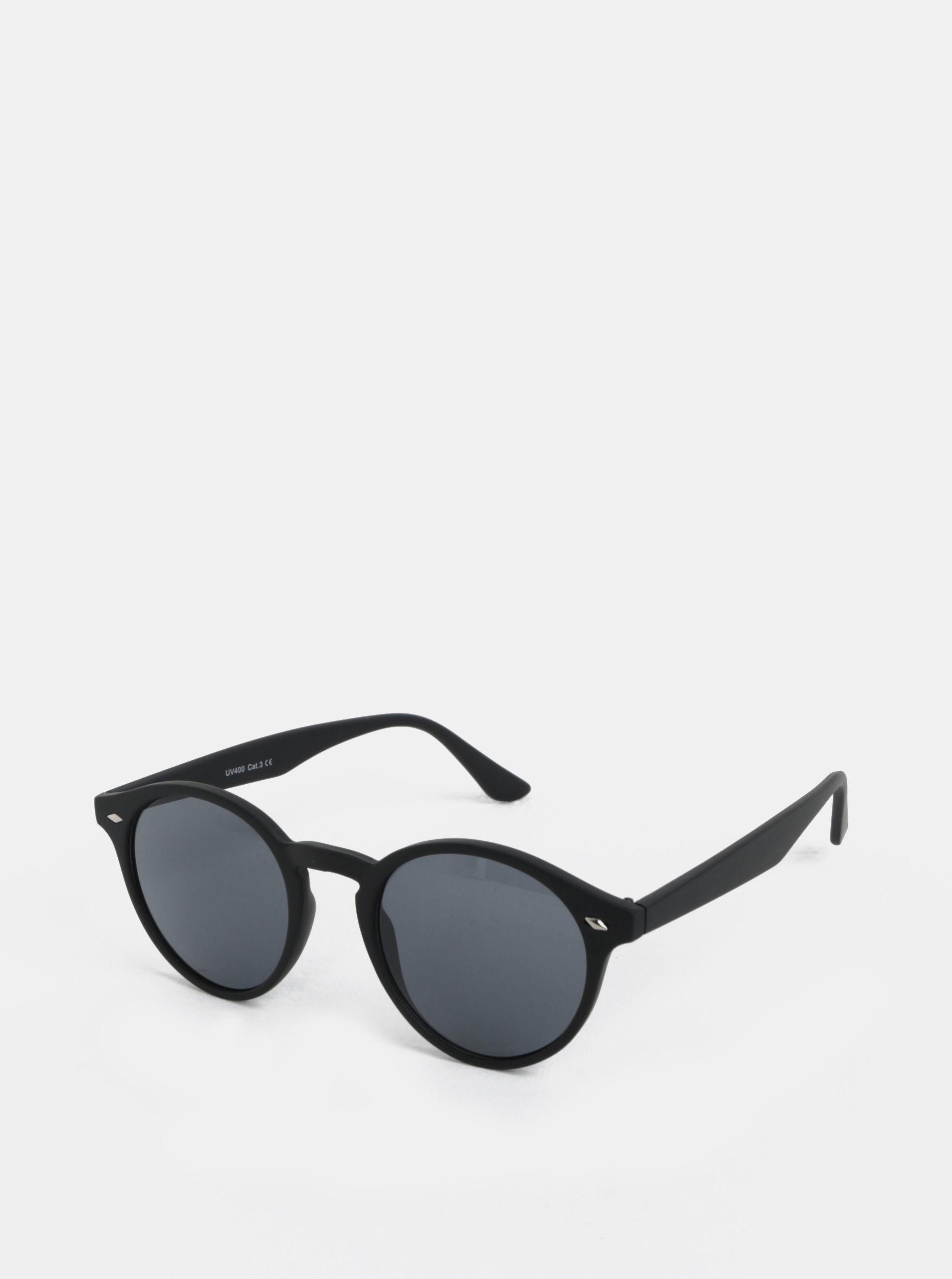 Čierne okrúhle slnečné okuliare s detailmi ONLY   SONS Display  4d834b44e32