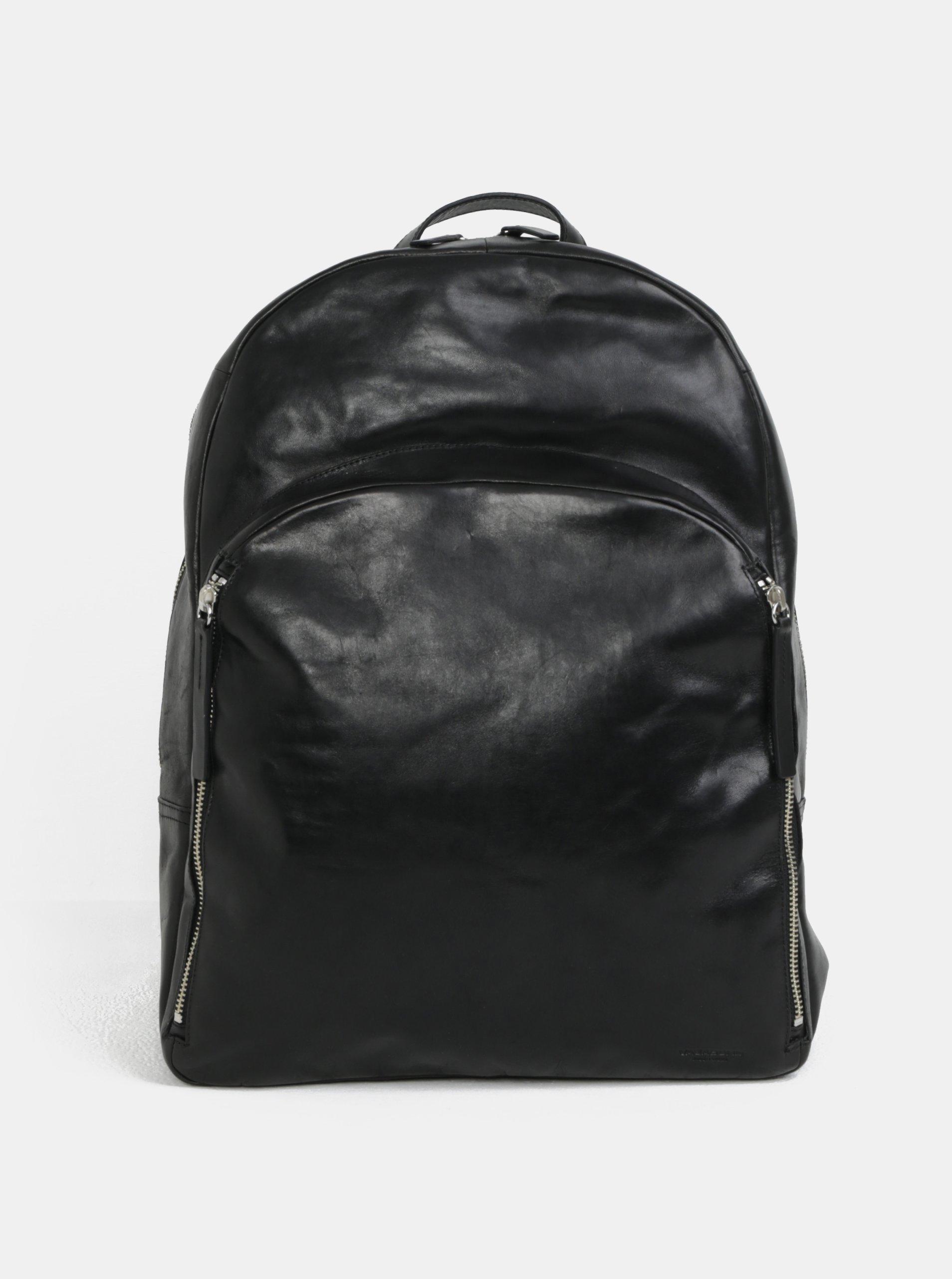 8ce3bab0c6 Čierny dámsky kožený batoh Vagabond Antibes