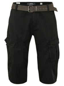 Čierne pánske loose fit kraťasy s vreckami s.Oliver