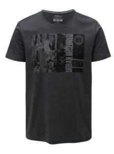 Tmavosivé pánske tričko s potlačou s.Oliver