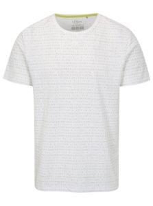 Biele pánske regular fit tričko s potlačou s.Oliver