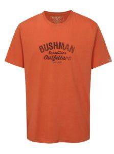 Oranžové pánske tričko s potlačou BUSHMAN Cornhill