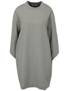 Svetlosivé melírované mikinové šaty Moss Copenhagen Ressler