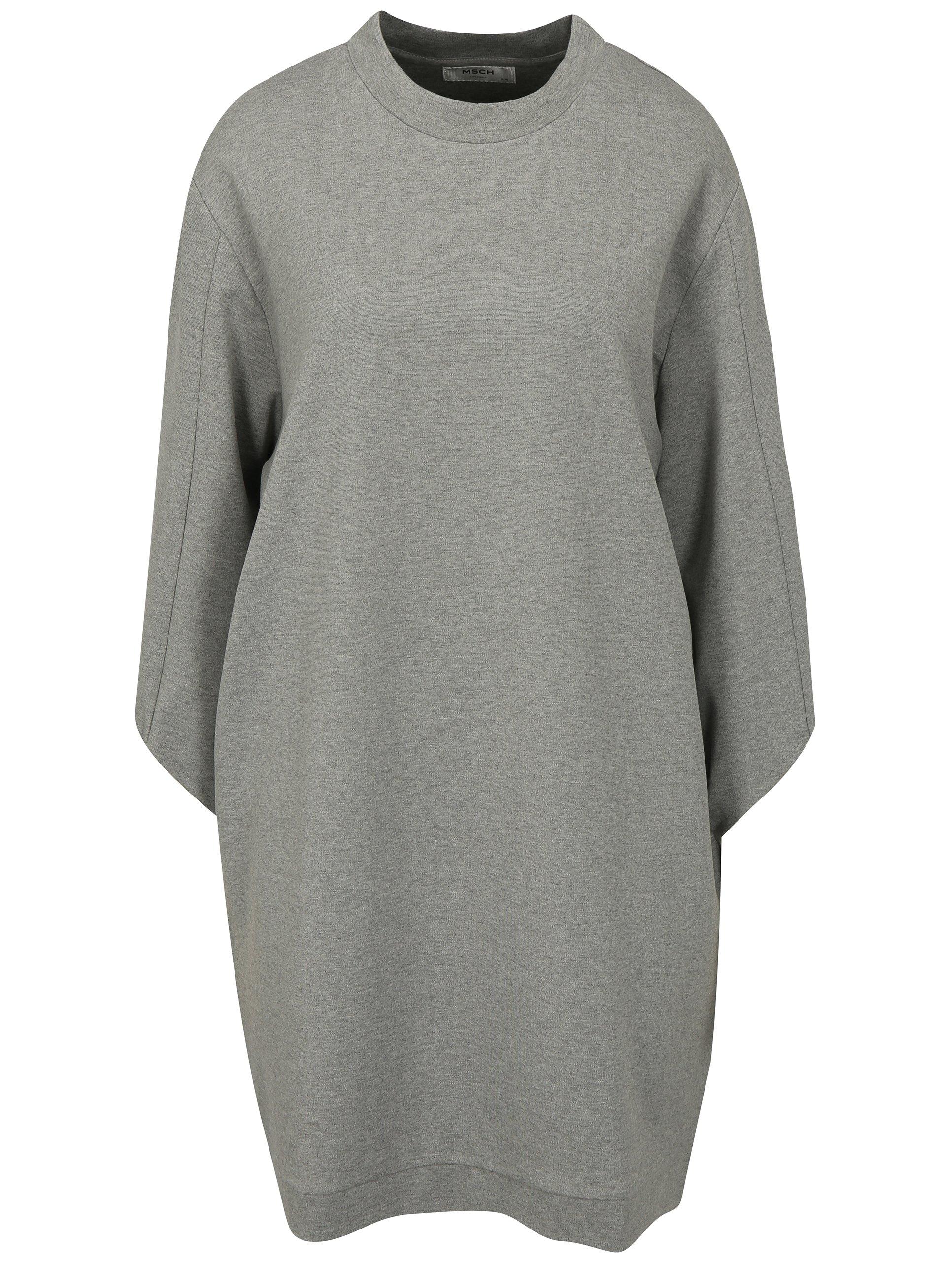 62cae267b010 Svetlosivé melírované mikinové šaty Moss Copenhagen Ressler