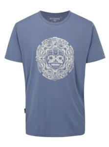 Modré pánske tričko s potlačou BUSHMAN Function