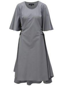 Sivé šaty so zvonovými rukávmi THAÏS & STRÖE
