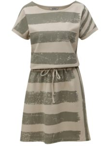 Béžové pruhované šaty BUSHMAN Genoa