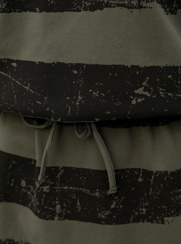 Tmavozelené pruhované šaty BUSHMAN Genoa