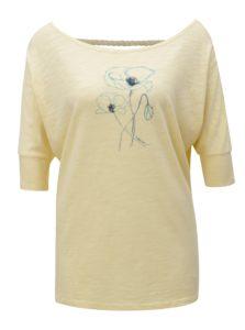 Svetložlté dámske tričko s výstrihom na chrbte BUSHMAN Sanlanta