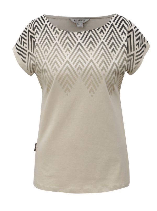 Béžové dámske tričko s potlačou BUSHMAN Cala