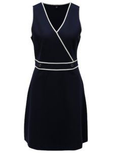 Tmavomodré šaty s prekladaným výstrihom Nautica Flaux