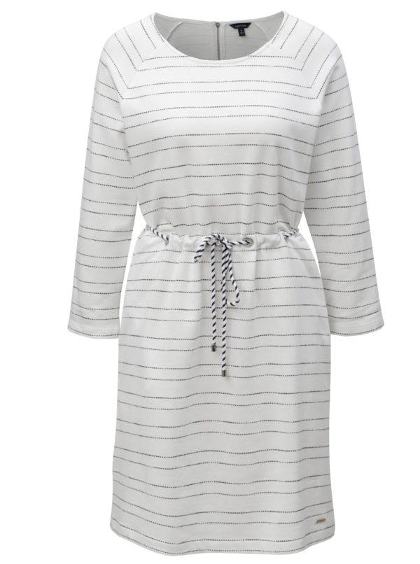 Biele pruhované šaty Nautica Knee