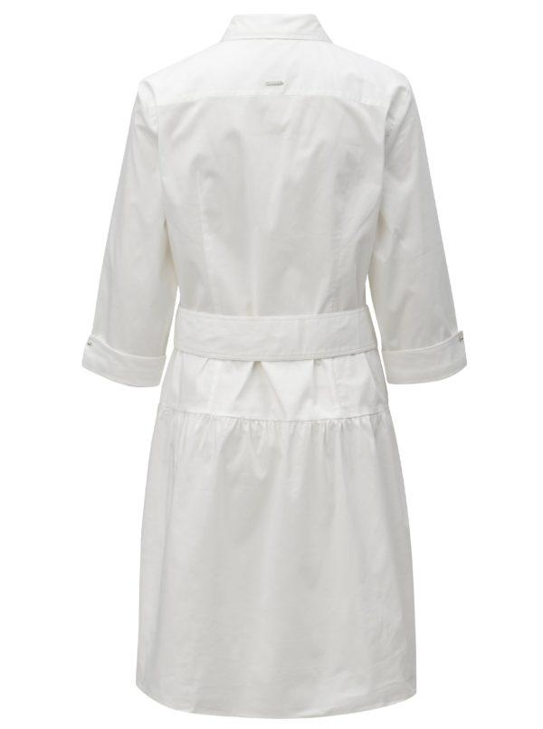 Biele košeľové šaty s opaskom Nautica Knee