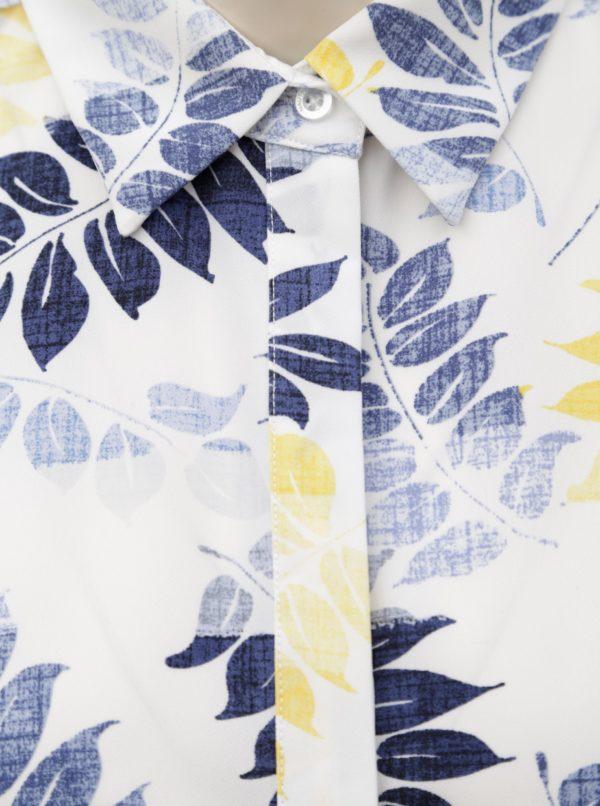 Biele kvetované košeľové šaty Nautica