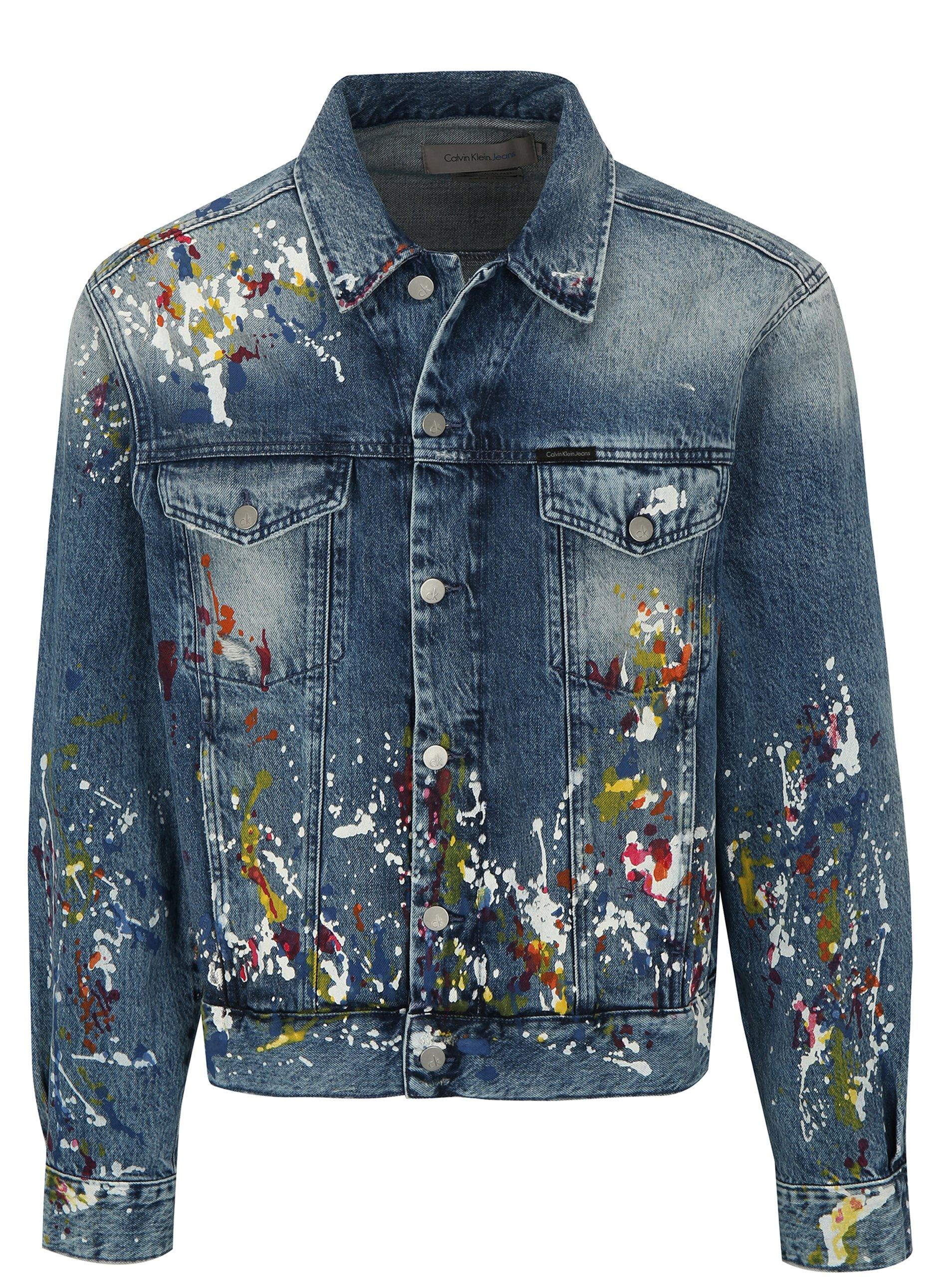 d39e3a304 Modrá pánska rifľová bunda s potlačou Calvin Klein Jeans | Moda.sk