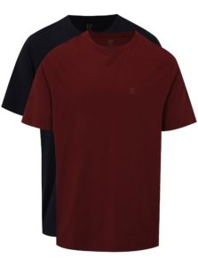 Súprava dvoch tričiek v tmavomodrej a vínovej farbe JP 1880
