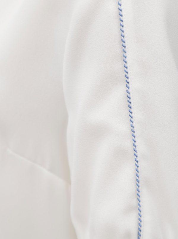 Biela blúzka s véčkovým výstrihom Nautica