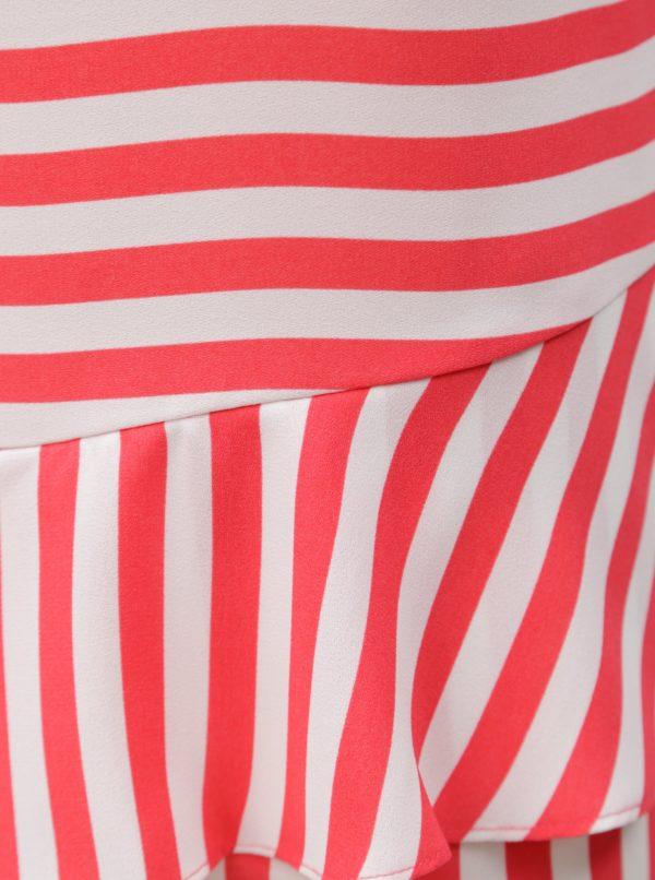 Bielo-ružové pruhované tielko Nautica