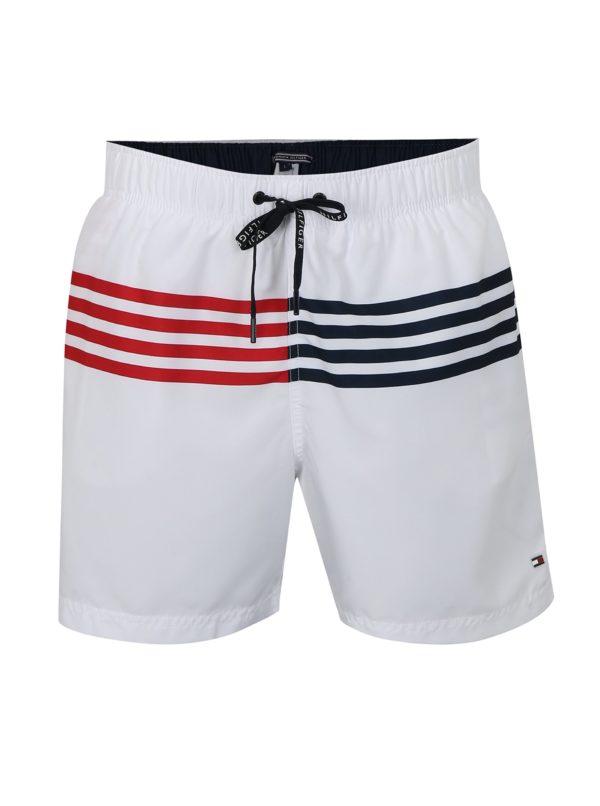 Biele pánske plavky Tommy Hilfiger