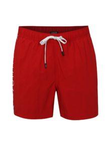 Červené pánske plavky s potlačou Tommy Hilfiger