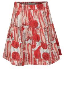 Bielo-červená vzorovaná dievčenská sukňa name it Julie