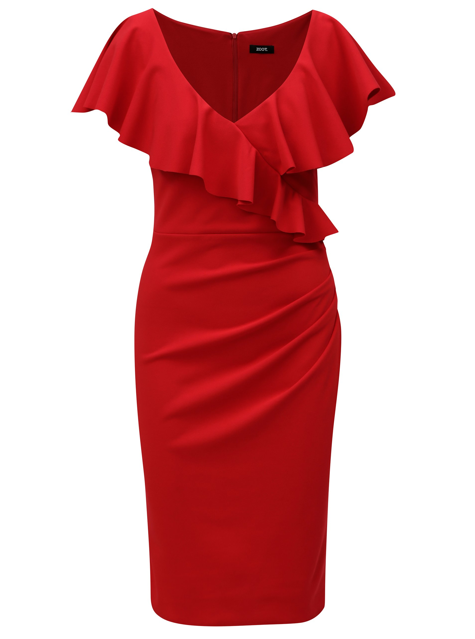 Červené šaty s volánmi ZOOT  0e2b8ae8de6