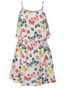 Biele dievčenské šaty s motívom motýľov name it Vigga