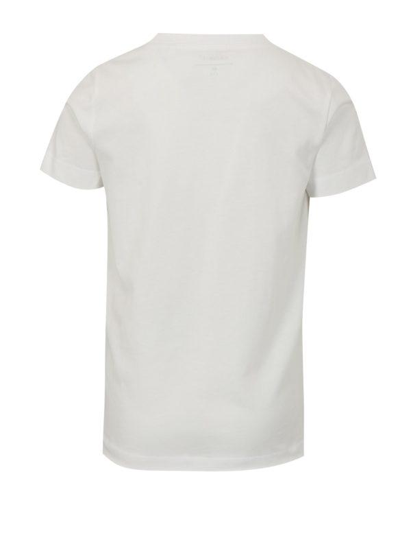 Biele chlapčenské tričko s potlačou name it Helm
