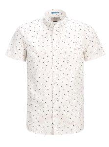 Biela košeľa s motívom palmy a krátkym rukávom Jack & Jones Cambridge