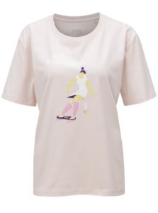 Svetloružové dámske tričko s potlačou ZOOT Stay wild