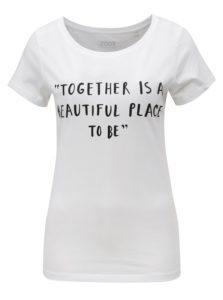 Biele dámske tričko s potlačou ZOOT Together