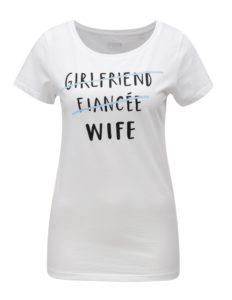 Biele dámske tričko s potlačou ZOOT Wife