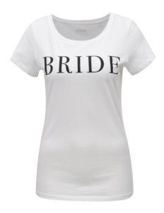 Biele dámske tričko s potlačou ZOOT Bride